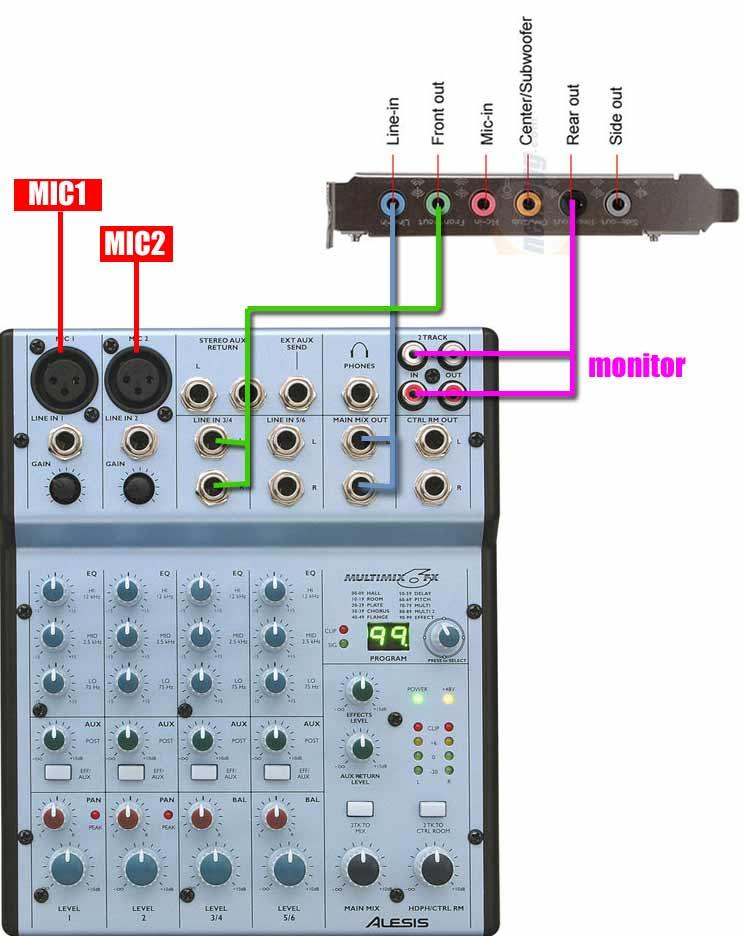 RadioDJ Mixer Setup