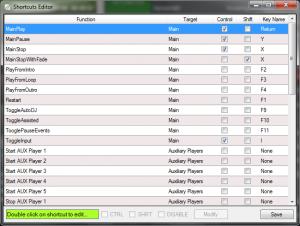 Keyboard Shortcuts Editor